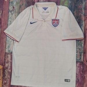 NIKE Dri fit USA Golf polo shirt XL 2014